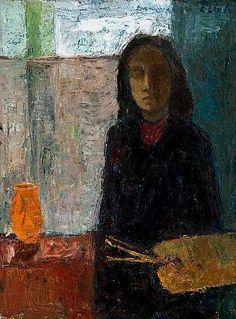 Finnish artist ELGA SESEMANN, Self-Portrait of the Artist