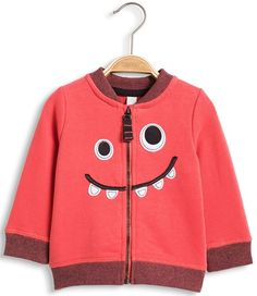 ESPRIT Cardigan Sweatshirt Smile, Coral Red Stl 68