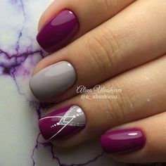 100 Winter Nail Designs 2018 – Reny styles - New Site Shellac Nails, Diy Nails, Cute Nails, Acrylic Nails, Nail Polish, Gel Manicures, French Manicures, Nail Nail, Chevron Nail Designs
