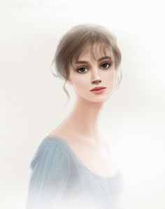 Jing Zhang / Jillhear's Fashion Illustration : Keira Knightley in Pride and Prejudice by Adobe Illustrator