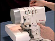 Singer's How to Thread the Singer 4 Thread Sergers . One of de BEST VIDEOS of threading a Singer Serger machine. Serger Stitches, Serger Thread, Serger Sewing, Janome Serger, Sewing Kit, Sewing Dolls, Sewing Basics, Sewing Lessons, Sewing Hacks