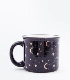 mug art Black Star Moon Mug Mug Art, Cute Cups, Kitchen Items, Tea Mugs, Decoration, Tea Set, Home Accessories, Tea Party, Coffee Cups