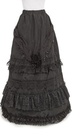 for wedding this would be cool in cream. :) black taffeta skirt with rows and rows of ruffled lace...love <3