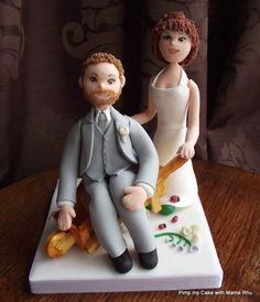 how to make a wedding cake topper bride in. wheelbarrow - Google Search