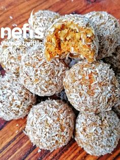 Havuçlu Enerji Topları – Nefis Yemek Tarifleri How to Make Carrot Energy Balls Recipe? Yummy Recipes, Rice Recipes, Yummy Food, Protein Energy, Hemp Protein, Perfect Rice Recipe, Heart Healthy Desserts, Desserts Sains, Energy Balls