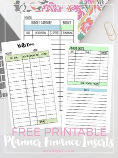 Personal & Business Financial Filofax Sections + Free Printables