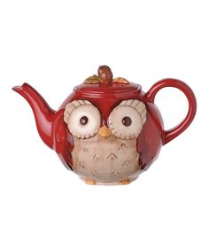 Look at this Red Owl Teapot on #zulily today!