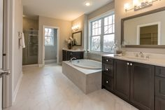 Spacious Master Bath Design - See Home Tour Vlog 34 here: http://homechanneltv.blogspot.com/2017/03/home-tour-vlog-34-newly-completed.html
