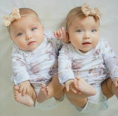Quite possibly the prettiest baby girls I have ever seen!
