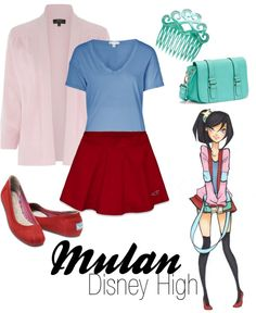 """Mulan (Disney High)"" by amarie104 on Polyvore"