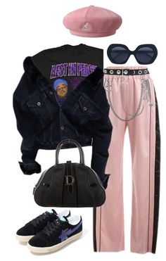 """Sans titre #542"" by a4styled ❤ liked on Polyvore featuring Dilara Findikoglu, kangol, Dsquared2, Valentino, Rockins, A BATHING APE, Christian Dior and Thom Browne"