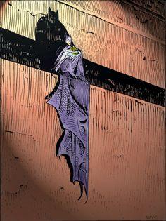 Batman Illustration by Moebius (Jean Giraud) Science Fiction, Bd Comics, Batman Comics, Im Batman, Batman Art, Comic Books Art, Book Art, Moebius Art, Jean Giraud Moebius
