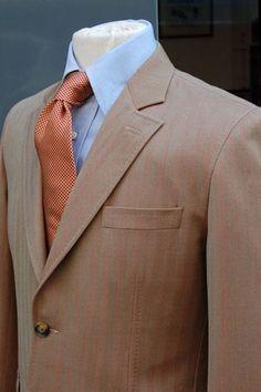 Harris Tweed Gemelos Rosa Carcasa De Bronce Herringbone Boda Mejor Hombre Ascot