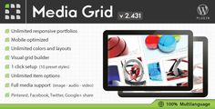 Create responsive and filterable portfolios with ease on your website. Media Grid comes with masonry layout, is designed to adapt each portfolio to any situation and is mobile optimized for responsive themes.