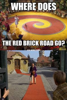 Mystery solved: Where does the red brick road go
