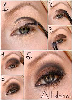 Learn how to make a perfect smoky eye makeup - Soy Moda Step By Step: Natural Makeup For Your Day To Day - Make-Up, (step by step) B # step hair and beauty . Eye Makeup Tips, Love Makeup, Skin Makeup, Smokey Eye Makeup, Makeup Brushes, Beauty Makeup, Makeup Ideas, Makeup Tutorials, Makeup Eyeshadow