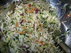 paleo mexican slaw. Pairing this with my crock-pot carnitas for dinner tonight. It's a delicious replacement for the traditional spanish rice. (but I'm still eating my refried beans!)