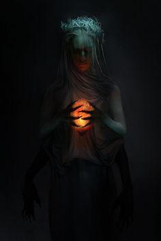 """Soul Keeper – fantasy concept by Pat Fix "" Arte Horror, Horror Art, Creepy Horror, Dark Fantasy Art, Fantasy Artwork, Dark Art Photography, Arte Fashion, Ange Demon, Gothic Art"