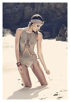 Dystopian Swimwear Designs  The 'Embedded Allure' by David Higgs is Savage and Sci-Fi #swimwear #SS2012 #DavidHiggs
