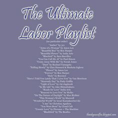 The Ultimate Labor Playlist