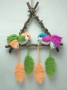 Diy Crafts For Home Decor, Diy Crafts Hacks, Diy Crafts For Gifts, Diy Arts And Crafts, Creative Crafts, Yarn Crafts, Woolen Craft, Paper Crafts Origami, Christmas Crafts