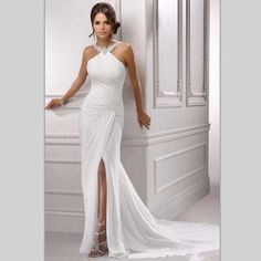 White Evening Gowns, Mermaid Evening Gown, Beautiful Outfits, Beautiful Clothes, Wedding Dress Styles, Mauve, One Shoulder Wedding Dress, Chiffon, Formal Dresses