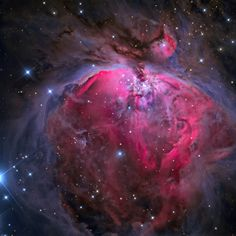 """The Great Orion Nebula - taken with a Planewave 17"""" Optical Tube Assembly. Photo by Jimmy Walker. (highest res photo in comments) [1199x1200]"""