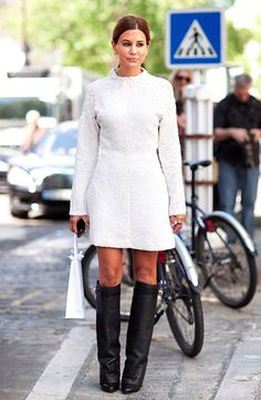 dans le rue...fabulous. there's those givenchy boots
