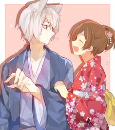Kamisama Kiss Nanami and tomoe Manga Anime, Moe Anime, Anime Kawaii, Anime Amor, Kamisama Kiss, Anime Cosplay, Anime Love, Anime Fan Art, Tomoe And Nanami