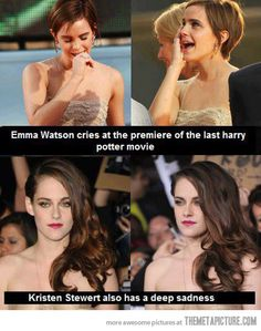 Which is why Harry Potter (and Emma Watson) are 0987124985790375831475374 times better than Twilight and Kristen Stewart!