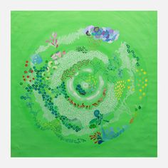 This art print by Sophia Yw embodies the beauty and color of a natural, albeit whimsical, world.