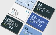 Business cards should be a conversation starter - something to be kept and acted on.
