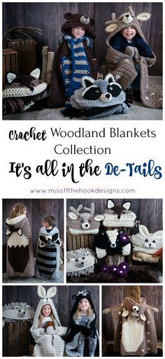 Crochet Hooded Animal Blankets