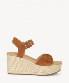 48bb6d4498 Lucky Brand - Naveah - Wedge Suede Heels, Espadrille Wedge, Soft Suede,  Lucky