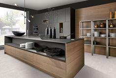 Modern Kitchen Cabinets, Kitchen Dinning, Kitchen Cabinet Design, Kitchen Interior, Miele Kitchen, Modern Home Interior Design, Minimalist Kitchen, Black Kitchens, Küchen Design