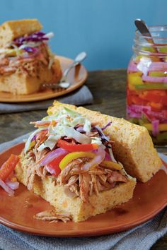 Summer Slow-Cooker Recipes: Slow-cooked Barbecued Chicken Sandwiches