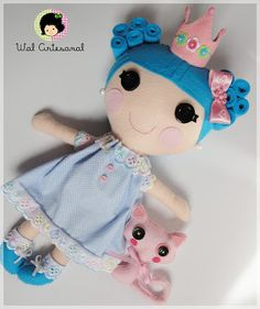 Lalablue, a Lalaloopsy style doll from Felt