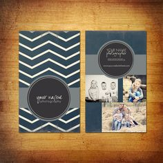 Photography Business Card PSD Template Design - Circle Zig Bethany Griffith