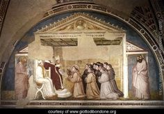 Scenes from the Life of Saint Francis- 5. Confirmation of the Rule 1325 - Giotto Di Bondone - www.giottodibondone.org