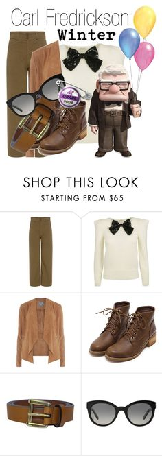 """Carl~ DisneyBound"" by basic-disney ❤ liked on Polyvore featuring Apiece Apart, Disney, Dorothy Perkins, Gucci and Burberry"