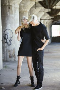 Dream team. A look at models Lucky Blue Smith + Pyper Smith on the set of the Calvin Klein Jeans Black Series Limited Edition capsule shoot. #mycalvins