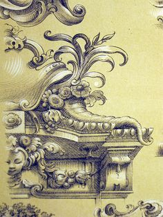 Century Lithographs of French ceiling designs for murals Ornament Drawing, Carving Designs, Mural Art, Murals, Acanthus, Ceiling Design, Wood Carving, Vintage Posters, Art Nouveau
