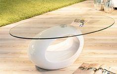127€ Mesa de centro minimalista en blanco o negro brillo. #mesa #salón #minimalista #blanco #negro  Deskontalia Productos - Descuentos del 70%