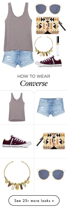 """Tiki tan theme"" by hc-sorme on Polyvore featuring Lizzie Fortunato, rag & bone/JEAN, Christian Dior, Rebecca Minkoff, Chanel and Converse"