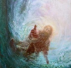 Art Prophétique, Mural Art, Image Jesus, Jesus Christus, Prophetic Art, Biblical Art, Biblical Tattoos, Jesus Pictures, Pics Of Jesus
