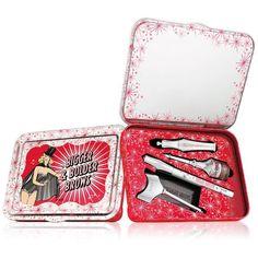 Benefit Cosmetics 6-Pc. Bigger & Bolder Brow Set (1,600 DOP) ❤ liked on Polyvore featuring beauty products, makeup, medium, brow makeup, eyebrow kit, highlight makeup, gel kit and eyebrow makeup