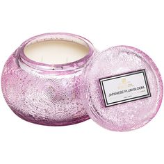 Voluspa Japonica Limited Edition Metallic Candle - Japanese Plum Bloom... (€42) ❤ liked on Polyvore featuring home, home decor, candles & candleholders, pink, japanese candles, voluspa, fragrance candles, blossom candle and glass candle