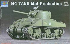 TRP07223 1:72 Trumpeter M4 Sherman Tank Mid Production #7223