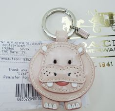 I would love this coach hippo key chain <3