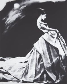 LILLIAN BASSMAN, Night Bloom, Anneliese Seubert, Ball gown by John Galliano for Haute Couture Givenchy, Paris, 1996